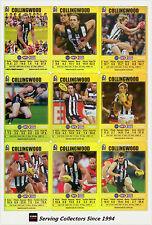 2008 AFL Teamcoach Trading Card Gold Team Set Collingwood (12)