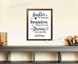 Unframed Laughter Timeless Imagination Disney Quotes Poster Canvas Print Decor