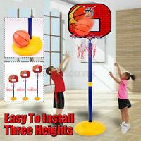 Adjustable Kids Basketball Back Board Stand & Hoop Set Children Gift Toys Net