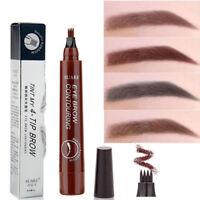 Waterproof Fork Tip Sketch Makeup Ink Microblading Liquid Eyebrow Tattoo Pen EY