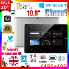 "10.8"" 4GB/64GB CHUWI Hi10 Plus Win10+Android5.1 Pad QuadCore BT4.0 Tablet PC OTG"