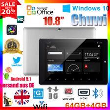 "10.8"" 4GB/64GB CHUWI Hi10 Plus Win10+Android5.1 Pad QuadCore BT4.0 Tablet PC OTG"