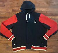 Mens Jordan Varsity Hoodie 2.0 Jacket Red/Black Size 2XL