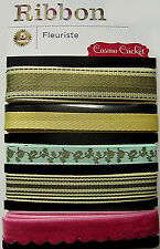 "Cosmo Cricket beautiful ""Fleuriste"" Woven Ribbons - Save 65%"