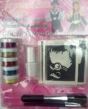 Minions GLITTER TATTOO KIT ideal christmas present stencils glitter glue brushes