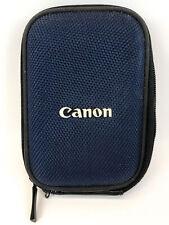 Original Canon Blue Zipper Belt Camera Case Pouch PowerShot ELPH 190 IS/IXUS 180