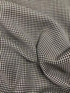 3.5 Metres Grey/Brown Houndstooth 100% Wool Summer Suit Fabric