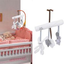 Kid Baby Crib Cot Pram Bed Stroller Hanging Plush Toy Rabbit Bear Bell& Music