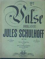 Jules Schulhoff - Valse Brillante Op. 20 ~ übergroße Noten, ALT