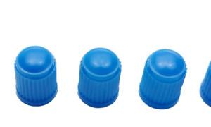 4 x Blue, plastic valve tyre Dust Caps for: Car, Van, Bikes, BMX , Motorbike