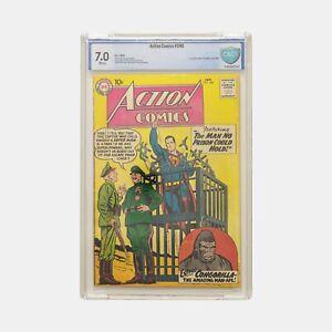 Action Comics Vol 1. #248 CBCS 7.0 Slabbed Comic. 1959 Cent Copy