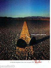 PUBLICITE ADVERTISING 016  1982  RAY-BAN  lunettes solaires  verres B.L