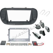 Kit plancia mascherina autoradio 2 DIN Fiat 500 cinquecento nero opaco con bocch