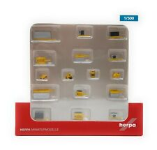 Airplane Herpa Wings 1/500 Airport Accessories container trailers rigid tractors