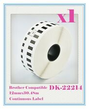 1x Roll Compatible Brother DK-22214  Continuous Label 12mm x 30.48M