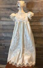 Doll Baby Christening Gown Baptism Baptismal Vintage Dress Shower Gift B