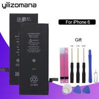 YILIZOMANA For Apple iPhone 6 Replacement Phone Battery 2250mAh + Repair Tools