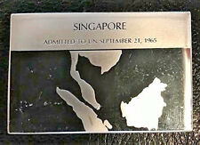 Franklin Mint Silver Ingot Singapore Flags of the U.N. United Nations 445 Grain