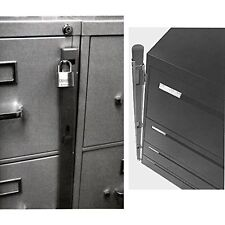 New Locking Bar /4 Drawer Metal File Cabinet Office Locks Security Storage Safe