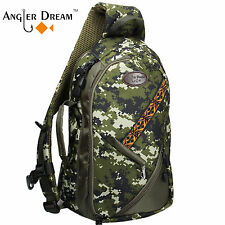 Camo Fly Fishing Sling Bag Adjustable Size Army Green Sports Fishing Chest Bag