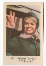 1960s Swedish Film Star Card Star #173 French Sex Symbol Brigitte Bardot