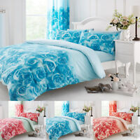 Duvet Cover Set Double King Size Single Super Bedding Designer Curtain Printed