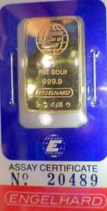 5 Grams PURE 24K GOLD ENGELHARD 999.9 BOULLION Bullion Certified Sealed Bar