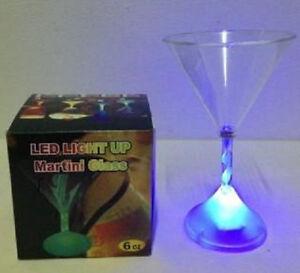 Flashing  Led Martini Glass  Light Up Barware  Drink Cup#3128  6 oz