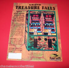 GRAND TREASURE FALLS By PLANET EARTH NOS REDEMPTION ARCADE GAME MACHINE FLYER