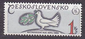 CZECHOSLOVAKIA 1986 **MNH SC#2592 Intl. Peace Year