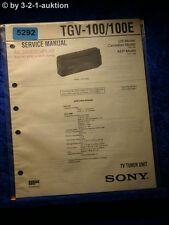 Sony Service Manual TGV 100 /100E TV Tuner Unit  (#5292)