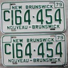 1979 NEW BRUNSWICK, CANADA LICENSE PLATE# C164-454 PAIR