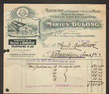 """TOULOUSE (31) USINE de MOBILIERS DE JARDIN """"Marius DULONG"""" en 1930"""