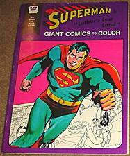 SUPERMAN GIANT COMICS TO COLOR RARE TREASURY WHITMAN DC LUTHOR'S LOST LAND VF-