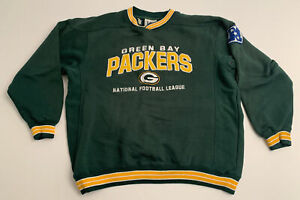 Vtg Green Bay Packers Sweatshirt By Lee Sport Embroidered Large L