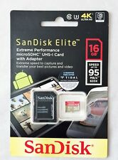 SanDisk 16 GB Extreme Plus Microsdxc Tarjeta de memoria U3 100MB/s V-Class 30 A1