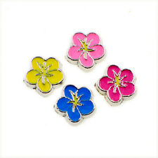 New style 10pc Flower Floating charms For DIY Living Glass memory Locket FC1677