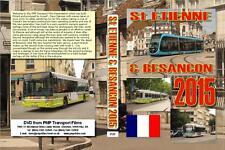3125. Besancon, St Etienne. France. Trams. June 2015. Short trams built to a bud