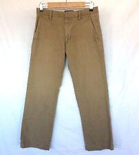 Banana Republic Men's 28x27 Dawson Chino Khaki/Tan Flat Front Pants Very Nice