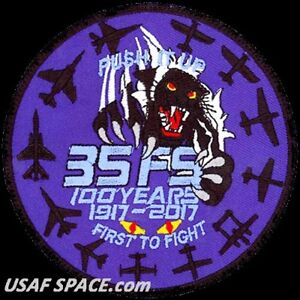 USAF 35th FIGHTER SQUADRON - 100th ANNIVERSARY - PUSH IT UP - MUST SEE - PATCH
