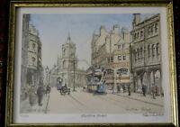 Frank Ruddock Signed Limited Edition Print Sheffield Tram Pinstone Street