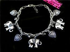Women Fashion Betsey Johnson Enamel elephant Jewelry Charm Bracelet