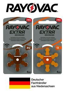 Rayovac Hörgerätebatterien braun orange 13 + 312 auch für KIND Hörgeräte