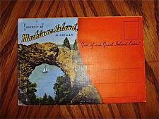 vintage Mackinac Island Michigan souvenir postcard fold out folder