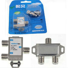 2 Way 5-1000 MHz 1 to 2 Coaxial Splitter for  Coax Cable HDTV Satellite