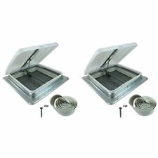 RV Enclosed Travel Concession Trailer Camper Motorhome 14x14 Roof Vent White