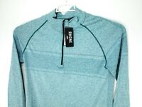 NEW Rhone Celliant Seamless Quarter Zip Long Sleeve Size XL Blue