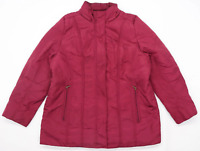 Dash Womens Size 18 Burgundy Midweight Coat