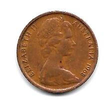 1968  AUSTRALIAN ONE CENT COIN  - CIRCULATED BUT NOT WORN - NO DAMAGE
