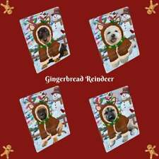 Christmas Gingerbread Reindeer Dog Cat Pet Photo Lovers Refrigerator Magnet